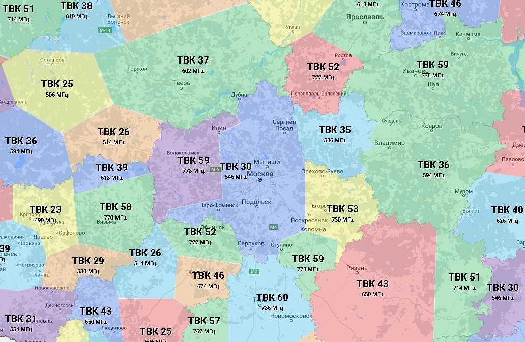 Цифровое эфирное телевидение DVB-T2 в Московской области 83
